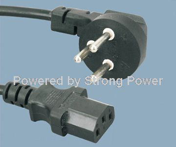 Israel_SII_approved_power_cord_YSL_16_to_ST3_C13