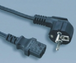 European VDE CEE EN50075 computer power cord JT003 to ST3 C13
